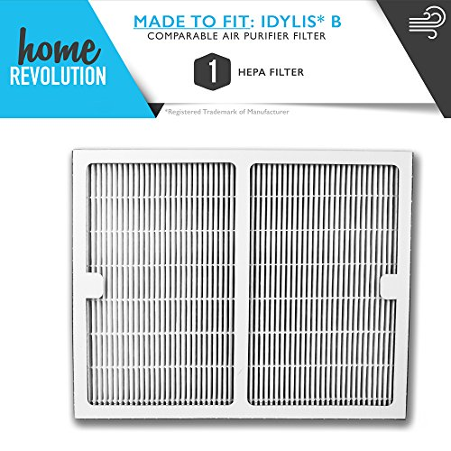 Idylis Part # IAF-H-100B for Idylis IAP-10-125 and IAP-10-150 Models, Comparable B HEPA Air Purifier Filter. A Home Revolution Brand Quality Aftermarket Replacement