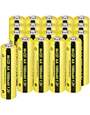 NICD AA Battery 1.2V 1000mAh Rechargeable Battery For Solar Light RC Toy 20pcs