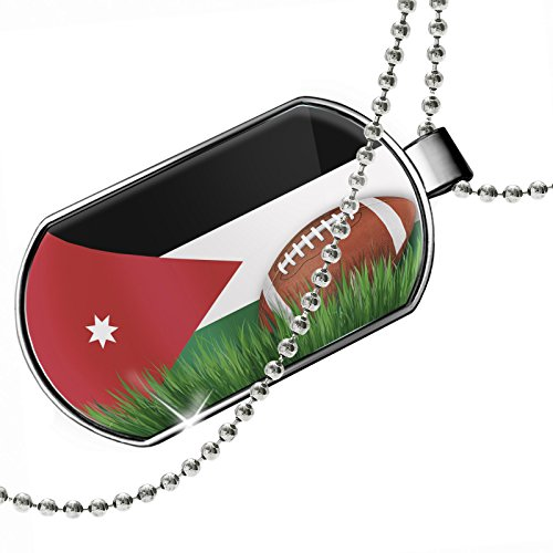 Dogtag Football with Flag Jordan Dog tags necklace - Neonblond by NEONBLOND