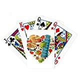 Italy Heart Roman Theater Poker Playing Cards Tabletop Game Gift