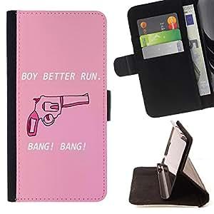 Jordan Colourful Shop - FOR LG OPTIMUS L90 - boy better gun - Leather Case Absorci¨®n cubierta de la caja de alto impacto