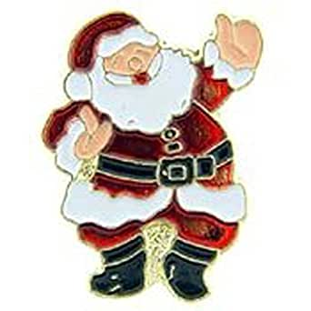 Metal Lapel Pin - Holidays - Christmas - Santa Claus