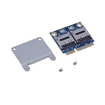 Gugutogo PCI-E TF Tarjeta PCI-e MPCI-e para Dual del TF/de ...