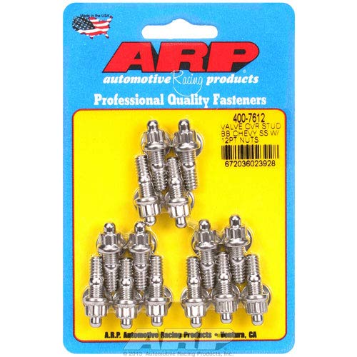 (ARP 400-7612 12-Point Stainless Steel Valve Cover Stud Kit - 14 Piece)