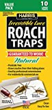 Harris Roach Glue Traps w/Lure, Non Toxic & Pesticide Free (10-Pack)