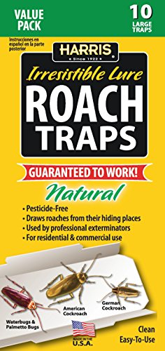Harris Roach Glue Traps w/ Lure, Non Toxic & Pesticide Free ()