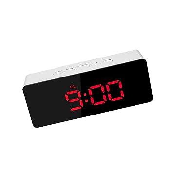 F Fityle Pantalla de Tiempo LED Despertador y Ronquidos Reloj LED Digital Herramientas Multiusos - Rojo: Amazon.es: Hogar