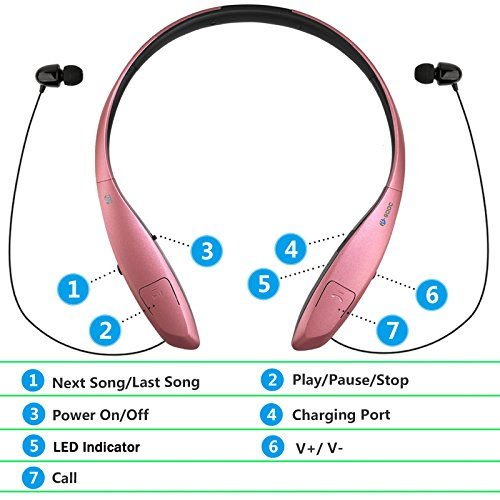 bluetooth headphones headset rymemo wireless earphones auto import it all. Black Bedroom Furniture Sets. Home Design Ideas