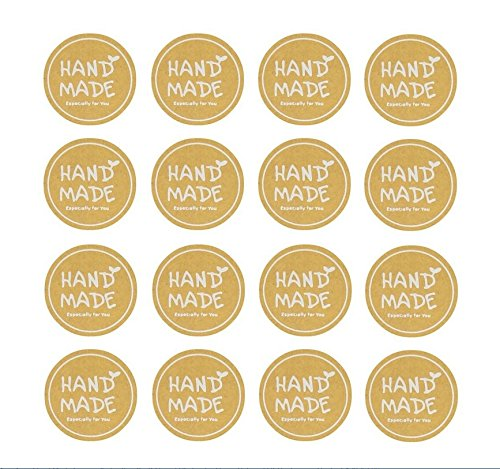 Hand Made Especially for You Kraft Round Stickers