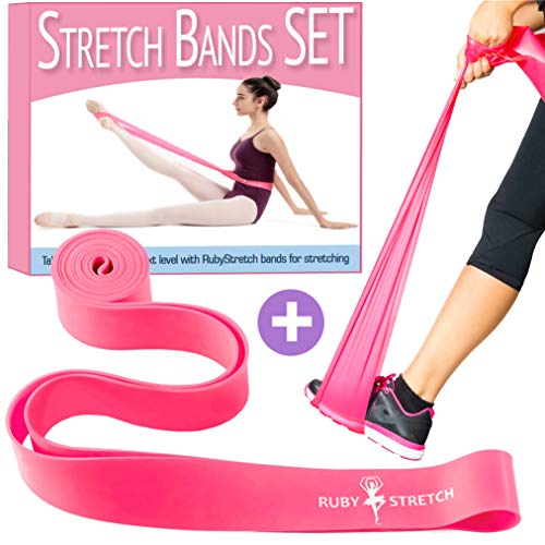 Set Dance Gift (Stretch Bands for Dance and Ballet - Exercise Resistance Band Set for Dance - 2 Resistance Bands for Stretching, Dance and Gymnastics Training – Gift Ready Box + Stretching Instructions + Travel Bag)