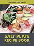 Charcoal Companion CC7167 Himalayan Salt Plate & Holder Set with Salt Plate Recipe Book, 8 x 12""