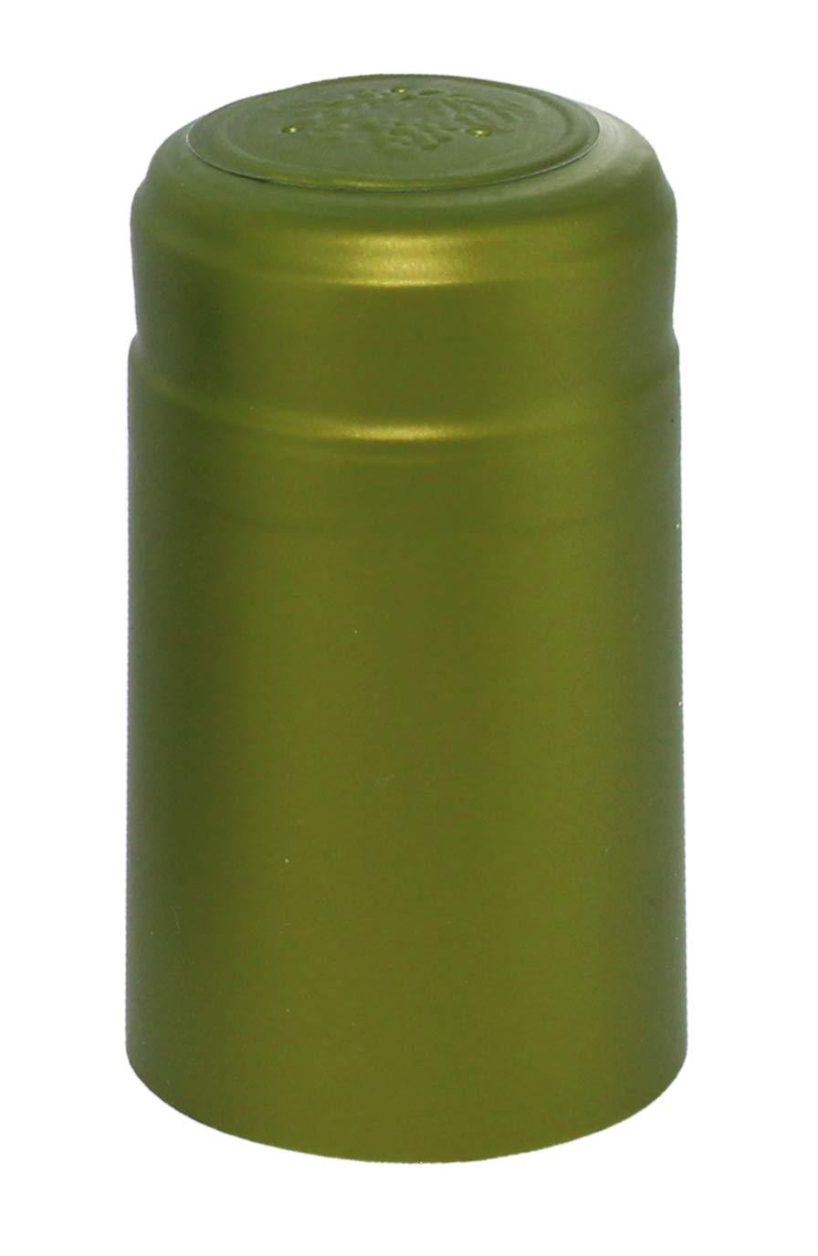 PVC Heat Shrink Capsules For Wine Bottles Metallic Lime Green 100 count