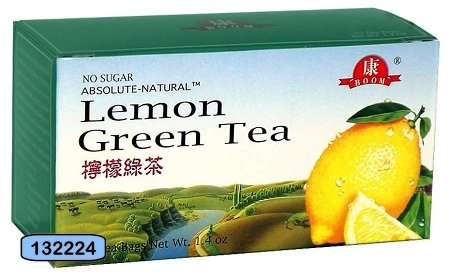 Beauti Leaf - Lemon Green Tea, 20 Tea Bags NWt. 1.4 Oz.