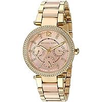 Michael Kors Women's Mini Parker Gold-Tone Watch MK6477