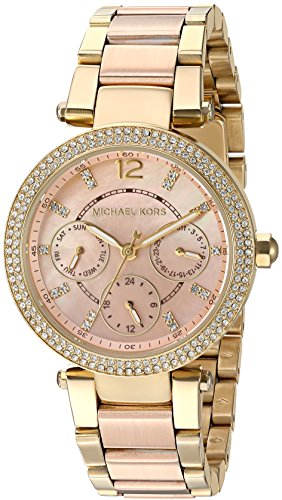 (Michael Kors Women's Mini Parker Rose Gold-Tone Watch MK6477)