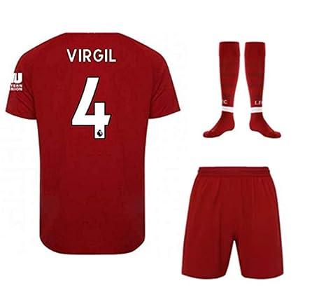 best sneakers 0271e 110ef Amazon.com : ZZXYSY Virgil Van Dijk #4 Liverpool Kids/Youths ...