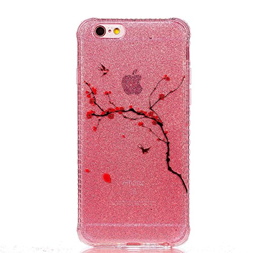 Funda iPhone 6 Sunroyal - Funda de Silicona de gel TPU Semitransparent Flexible Carcasa iPhone 6S Ultra Delgada Caja del Teléfono , Resistente a los Arañazos , Amortigua los Golpes , Protectora Anti-g B-05