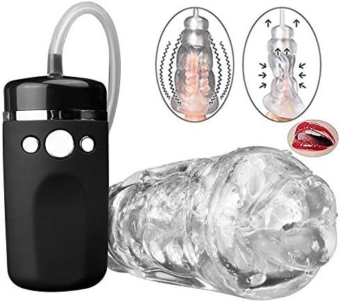 Masturbador Masculino Copa Carga USB con Succión y Vibración Masajeador Automático de Pene 10 Modos de Juguetes Eróticos para Hombres, oral Coño ...