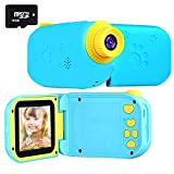 Kids Camera Camcorders 2.4 Inch Screen 8MP HD Magic Wand Creative Kids Camera For Kids Shockproof Handheld Children Selfie Toy Camera Best Gifts For 3-12 Years Old Kids (16GB SD Card Included) (Blue1)