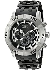 Invicta Mens Sea Spider Quartz Stainless Steel and Polyurethane Casual Watch, Color:Two Tone (Model: 21816)