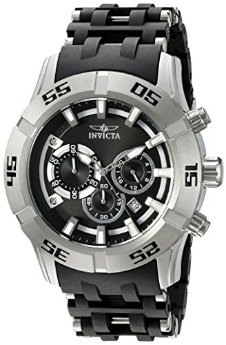(Invicta Men's 'Sea Spider' Quartz Stainless Steel and Polyurethane Casual Watch, Color:Two Tone (Model: 21816))