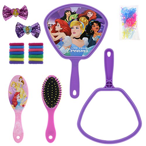 51PNmdpgHwL - TownleyGirl Disney Princess Cosmetic Set with Nail Polish, Lip Gloss, Press-On Nails, Sandals, Toe Separators, and More