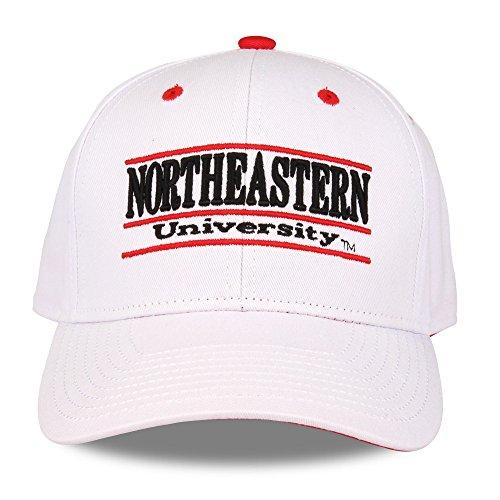 NCAA Northeastern Huskies Unisex NCAA The Game bar Design Hat, White, Adjustable (Northeastern University Hat)