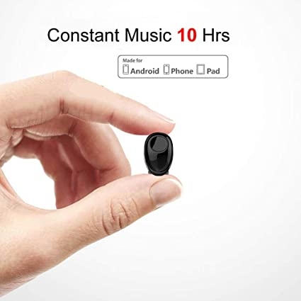 Amazon Com Bluetooth Earbud 10 Hrs Playtime Single Wireless Earphone Mini Bluetooth Headset Hands Free Car Headphone Cell Phone V4 1 Bluetooth Earpiece For Iphone Samsung Android Phones Pc Tv Audiobook Home Audio Theater
