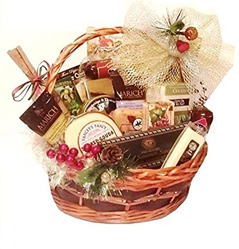 Cheese, Nuts and Sausage Gift Basket by Goldspan Gift Baskets