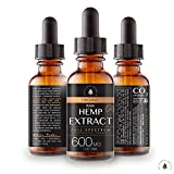Organic Hemp Oil Extract for Pain & Stress Relief (600MG), Cinnamint Flavor, Full Spectrum, Blended with Organic Hemp Seed Oil for Optimal Absorption, CO2 Cold Extracted, Kosher, Non-GMO, 1oz