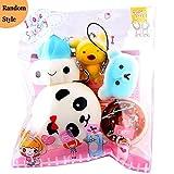 5pcs Squishy Toy Set,WM & MW Mochi Panda Bun Bear