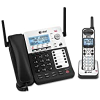 AT&T SB67138 DECT6 Phone/Ans System, 4 Line, 1 Corded/1 Cordless Handset