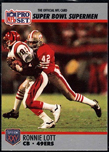 - Football NFL 1990-91 Pro Set Super Bowl 160 #105 Ronnie Lott NM-MT 49ers