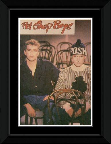 Pet Shop Boys - Posh Hat Framed Mini Poster - 14.7x10.2cm