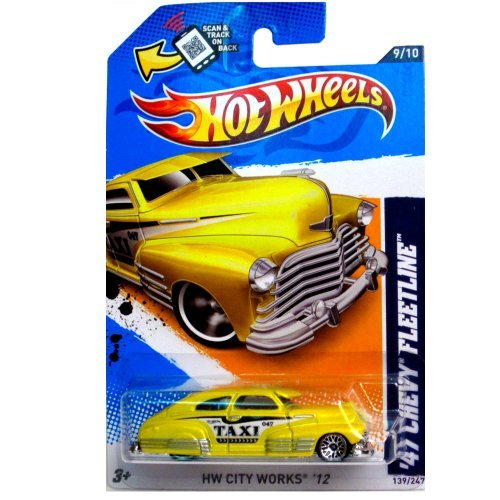 Mattel Hot Wheels HW CITY WORKS '12 Yellow TAXI '47 Chevy...