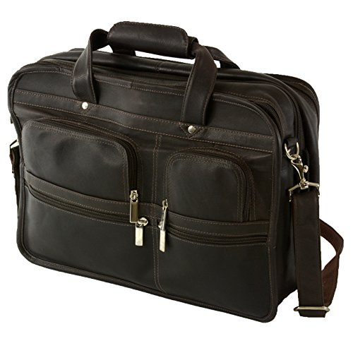 Hammer Anvil Turbo Colombian Leather Briefcase Top-Zip Laptop Messenger Bag BRN