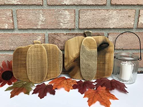 Wooden Pumpkin Set, Fall Decor, Halloween Decor, Halloween