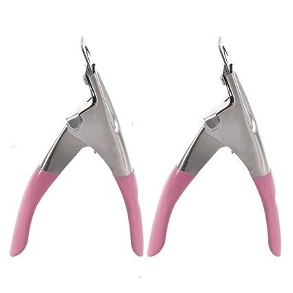 Cortaúñas postizo, 2 piezas de acero inoxidable para uñas ...