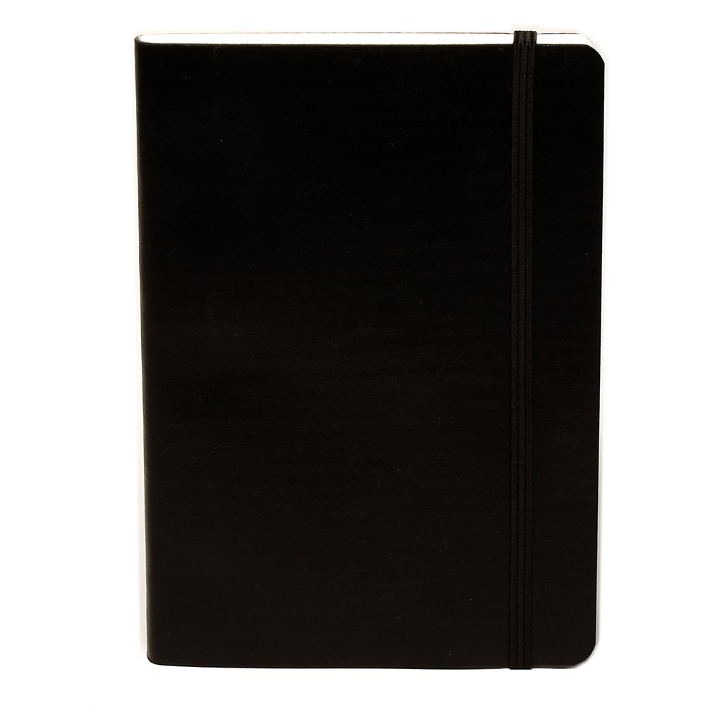 Miquelrius Flexible Handmade Leather Journal, 200 Graph Sheets/400 Pages, Black (4.5 x 6) (Black)