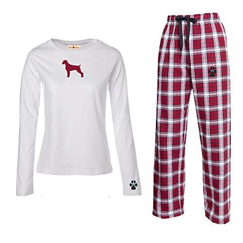 German Wirehaired Pointer Ladies Flannel Pajamas. Size 2X