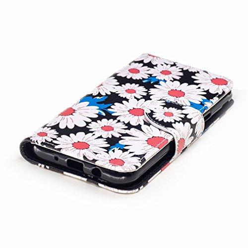 Yiizy Samsung Galaxy J3 (2017) Custodia Cover, Girasole Design Sottile Flip Portafoglio PU Pelle Cuoio Copertura Shell Case Slot Schede Cavalletto Stile Libro Bumper Protettivo Borsa
