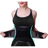 Baytion Waist Trimmer Belt for Women & Men,Adjustable Waist Trainer Helps Abdominal Aerobic Exercise & Slimming Body…