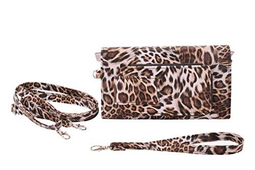 Eye Pockit Multi-Purpose Clutch, Glasses Case, RFID Wallet, Phone case combo - Cheetah