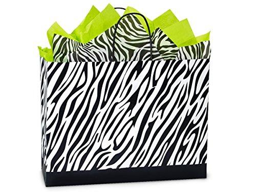 VOGUE Zebra Paper Shopping100% Rec MINI-PK 16x6x12-1/2