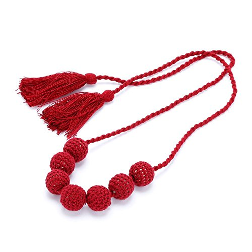(Peppercorn Kids Crochet Bead Necklace (Cherry Red))