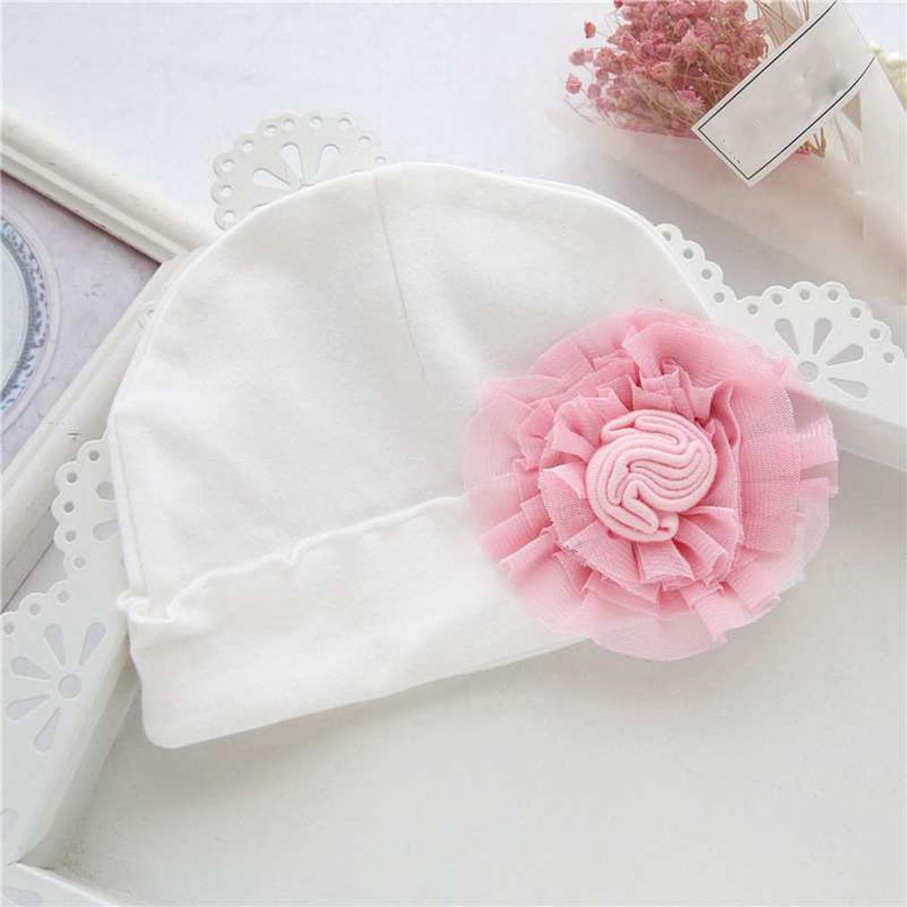 Yunzee Baby Flower Princess Hat Cotton Hooded Spring and Autumn Adorable Exaggerated Flowers Cap for Kids Childern Girls,Pink