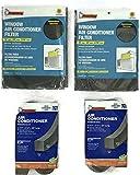 Frost King Air Conditioner Foam Filters-2 Packs- 15''x 24''x 3/16 Air Conditioner Weatherseal-2 Packs-2 1/4 x 2 1/4 x 42 in Long- Window AC Filter-Foam Weather stripping-Foam insulation Strip- AC Filter