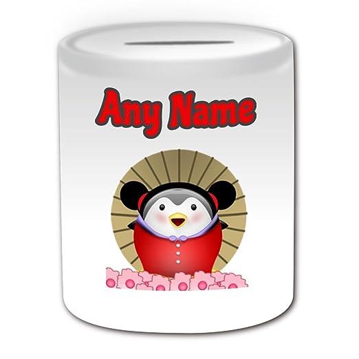 Regalo personalizado - Pucca caja de dinero (pingüino ...