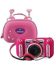 Vtech 80-520099 80-520099-KidiZoom Duo DX incl. draagtas roze kindercamera