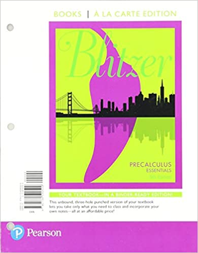 Precalculus essentials books a la carte edition plus mylab math precalculus essentials books a la carte edition plus mylab math with etext access card package 5th edition 5th edition by robert f blitzer fandeluxe Image collections